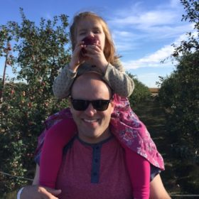 Fall Means Apple Juice On Daddy's Head!